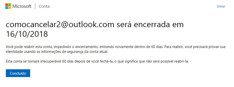 Como cancelar um email do Outlook