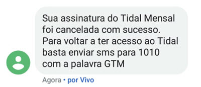 Cancelar a assinatura do TIDAL