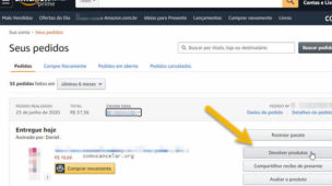 Como cancelar compra do Kindle ou de eBooks Amazon