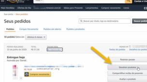 Como cancelar compra do Kindle ou de eBooks Amazon