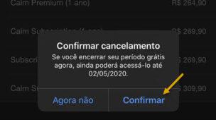 Procedimento para cancelar assinaturas de aplicativos pelo iPhone