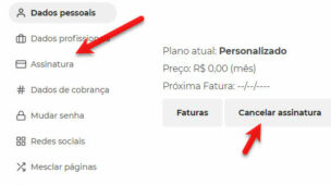 Como cancelar assinatura do Escavador.com