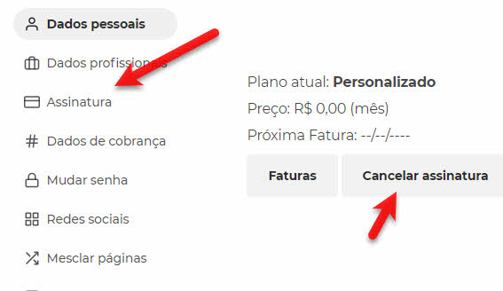 Como cancelar assinatura do Escavador e excluir conta