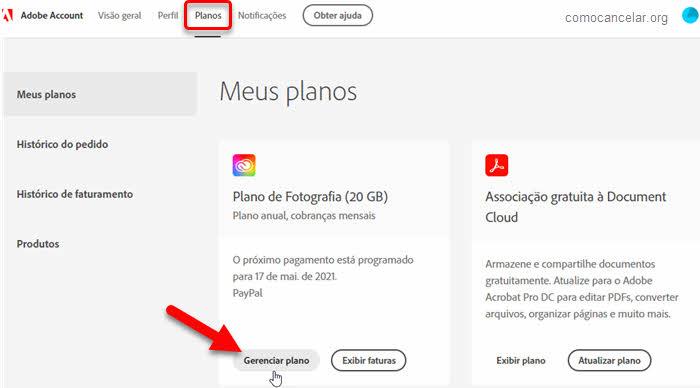 Como cancelar assinatura da Adobe e excluir conta